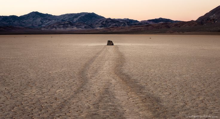 Death Valley sailing stone  rare conditions can move boulders when ice forms and then melts in the middle of the California desert! [OC][1200649] #reddit