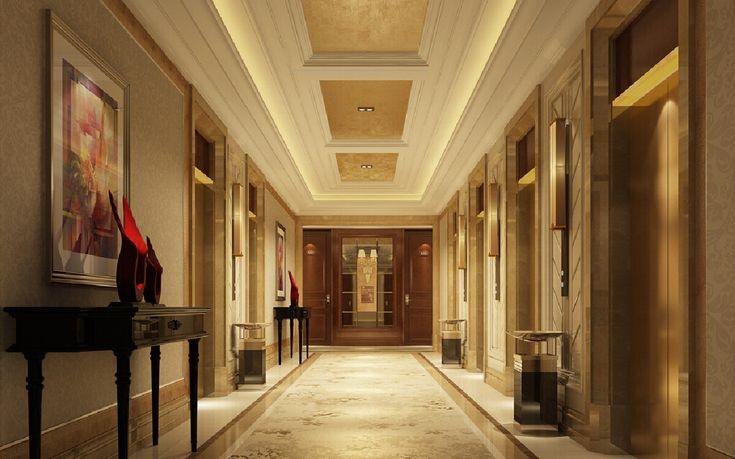 Foyer False Ceiling : Interior design suspended ceiling hallway g