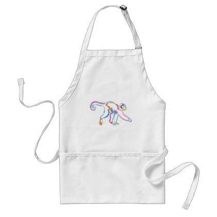 Rainbow Monkey Adult Apron - animal gift ideas animals and pets diy customize