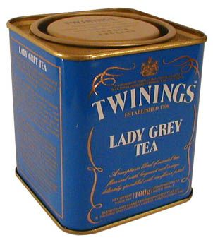 Lady Grey tea is a delicate, fragrant variation on the more famous Earl Grey blend. It consists of black tea scented with oil of bergamot, lemon peel and orange peel.