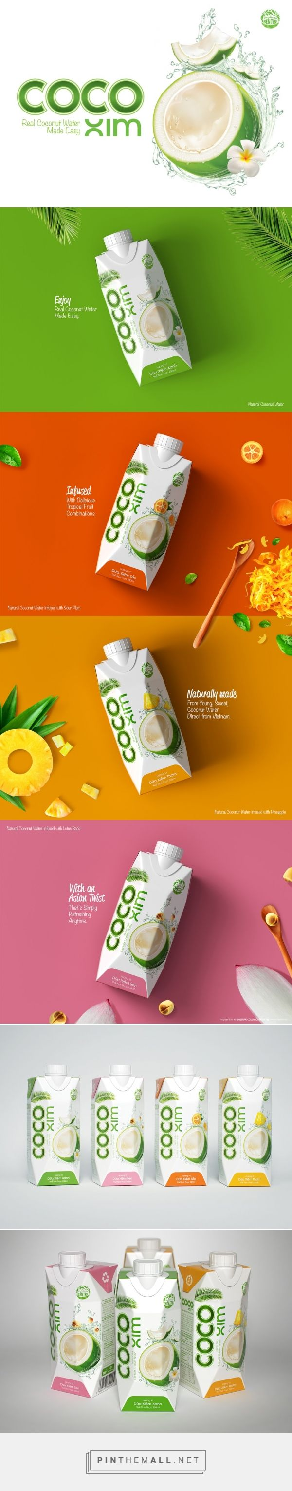 CocoXim Coconut Water - Packaging of the World - Creative Package Design Gallery - http://www.packagingoftheworld.com/2016/03/cocoxim-coconut-water.html