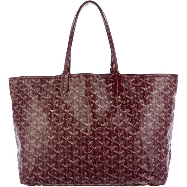 Pre-owned Goyard St. Louis PM (1,875 CAD) ❤ liked on Polyvore featuring bags, handbags, burgundy, goyard purse, colorful handbags, burgundy handbags, hand bags and burgundy purse