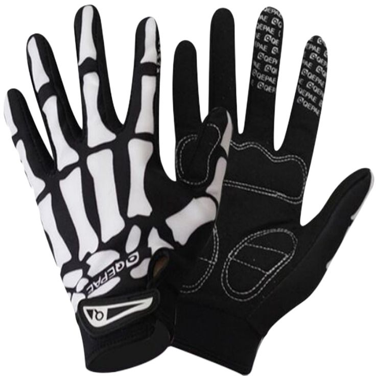 Bicycle Breathable Sport Skull Cycling Gloves //Price: $14.66 & FREE Shipping //     #skullnique