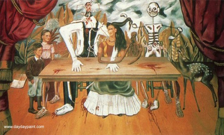 Frida Kahlo The Wounded Table