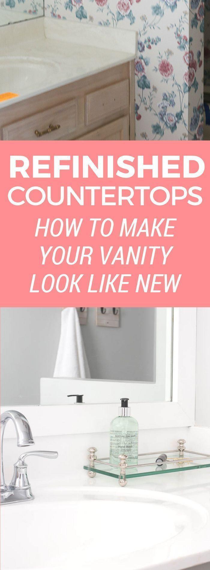 367 best bathroom images on pinterest bathroom bathroom - How to refinish a bathroom vanity ...