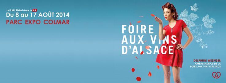 Delphine Wespiser ambassadrice de la Foire aux Vins d'Alsace 2014 | Vitiblog
