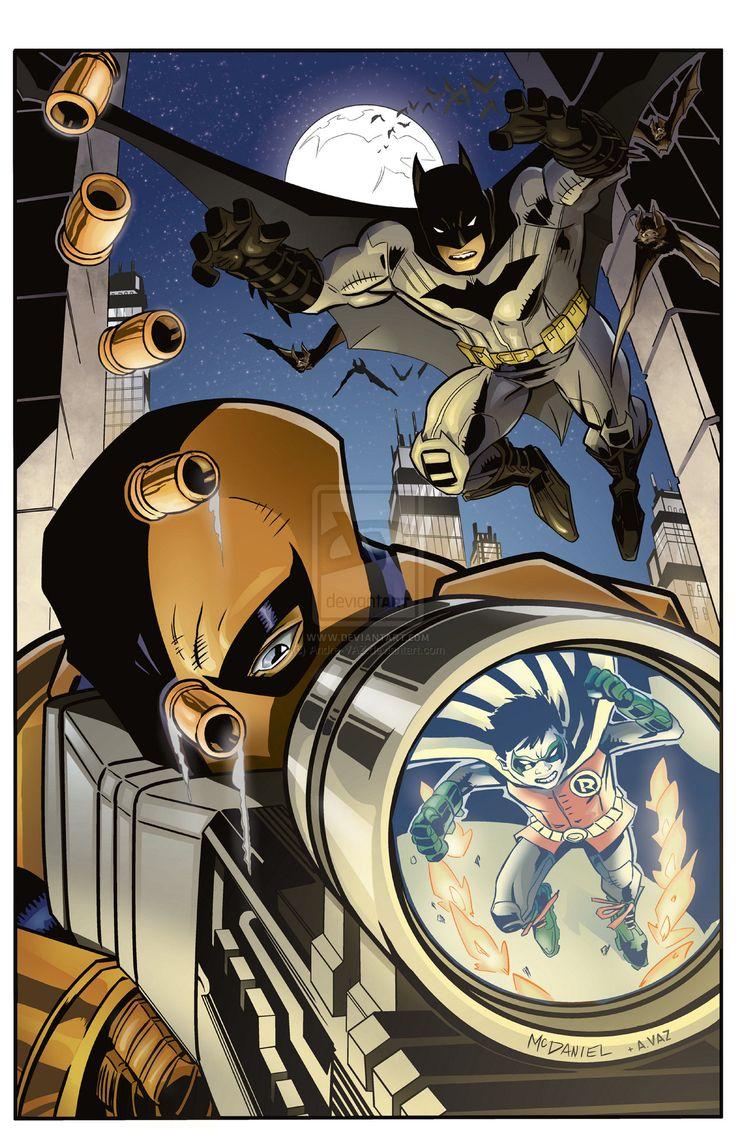 Batman Commission by Scott McDaniel - Inks Colors by Andre-VAZ.deviantart.com