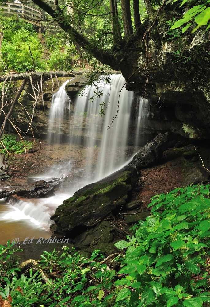 Upper Falls of Hills Creek, Hillsboro, West Virginia, Monongahela National Forest, Allegheny Highlands Region