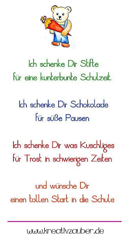 Sprüche Zur Einschulung Tanti Auguri Pinterest Kindergarten