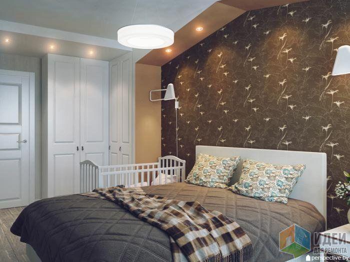Дизайн спальни фото, акцентная стена в спальне, расстановка мебели спальня