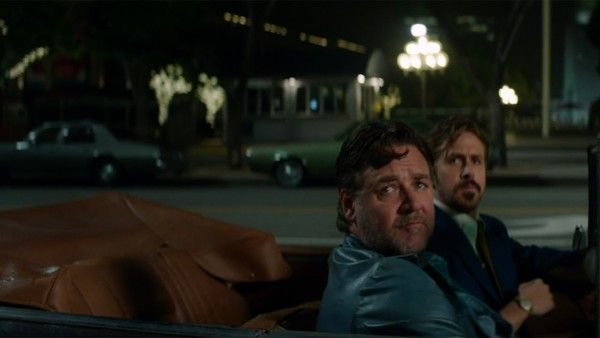 """Shane Black's outstanding action comedy """"The Nice Guys"""" starring Russell Crowe and Ryan Gosling is now playing in theaters. This film is currently competing to be my favorite film thus far this year. I'm dying to see it again. #examinercom #TheNiceGuys #moviereview #RussellCrowe #RyanGosling #ShaneBlack #MattBomer #KeithDavid #KimBasinger #JackKilmer #comedy #action #neonoir #mystery #movies #WarnerBrosPictures"""