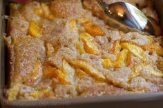 peach cobbler- my lovers the best Dutch oven cobbler maker ever. love this! This is what he does when we go camping.