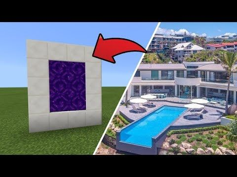 How To Make A Portal To The 24m Hillside Mansion Dimension In Mcpe