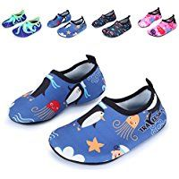 L-RUN Kids Swim Water Shoes Barefoot Aqua Socks Shoes for Beach Pool Surfing Yoga -- You can find more details by visiting the image link.