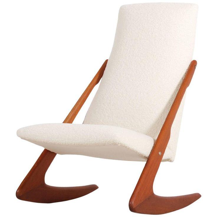 Scandinavian Rocking Chair, circa 1950 For Sale at 1stdibs