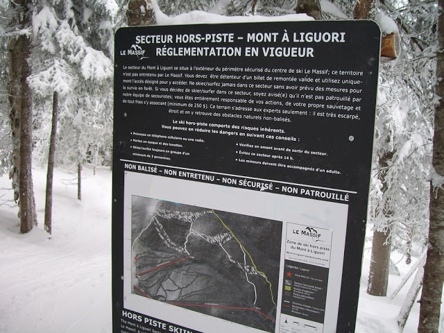 Express ski: Massif de Charlevoix - 24 février 2013: Hors-piste sur le Mont à Liguori! #horspiste #ligori #massifdecharlevoix