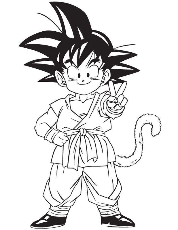 Ausmalbild Son Gohan Ausmalbilder Zeichnungen Dragon Ball