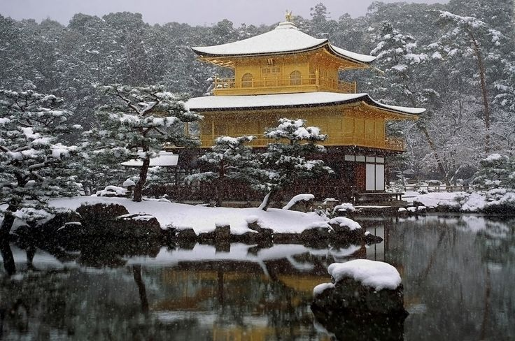The Temple of the Golden Pavilion in Kyoto, Japan | 34 Places That Are Even Better During The Winter