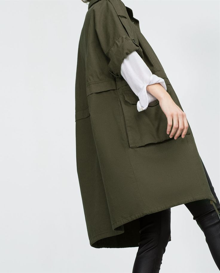 PARKA WITH ROLL-UP SLEEVES-COATS-WOMAN | ZARA United States