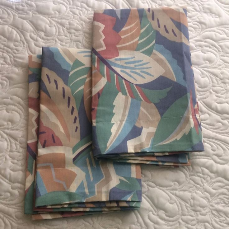 Pillowcase Shams Mod Tropical Floral by Springs Industries USA NWOT #Springs