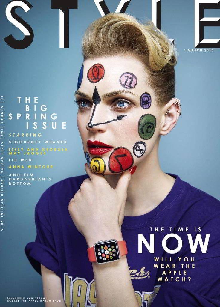 Apple promoveaza intr-un mod inedit Apple Watch in revista Style