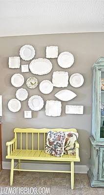 Eclectic Plate Wall…
