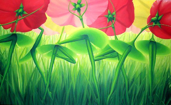 Flowery bottoms by Manon Potvin - Les dessous fleuris par Manon Potvin #surreal #magical realism