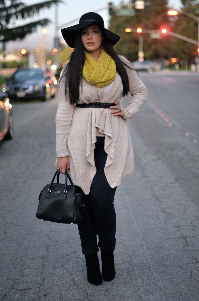 amazing fall outfit for plus size girls