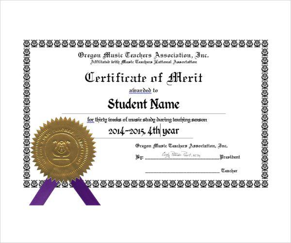 10  merit certificate templates