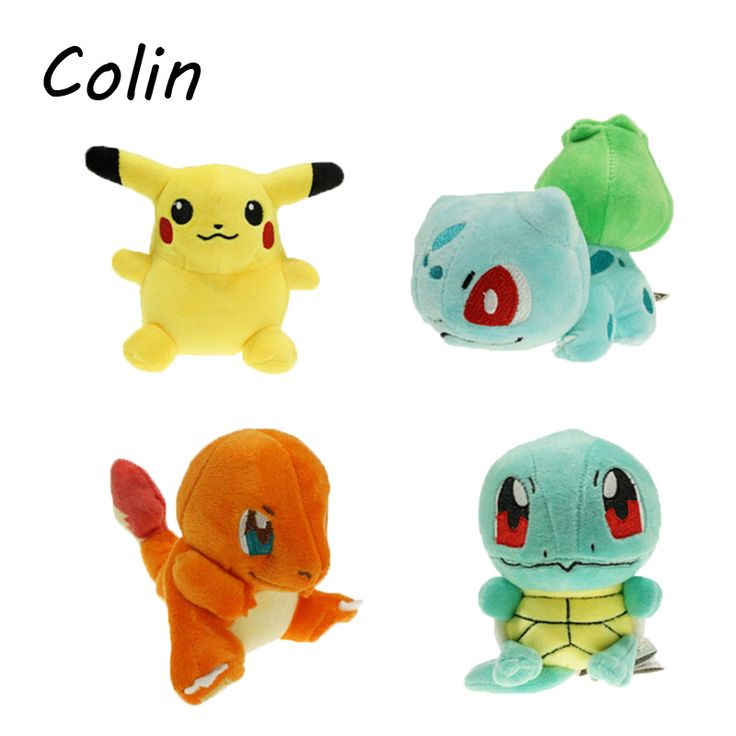 4pcs/lot  Plush Toys 15cm Size Pikachu & Bulbasaur & Squirtle & Charmander Gift Plush Toys Peluche  WJ028 #>=#>=#>=#>=#> Click on the pin to check out discount price, color, size, shipping, etc. Save and like it!