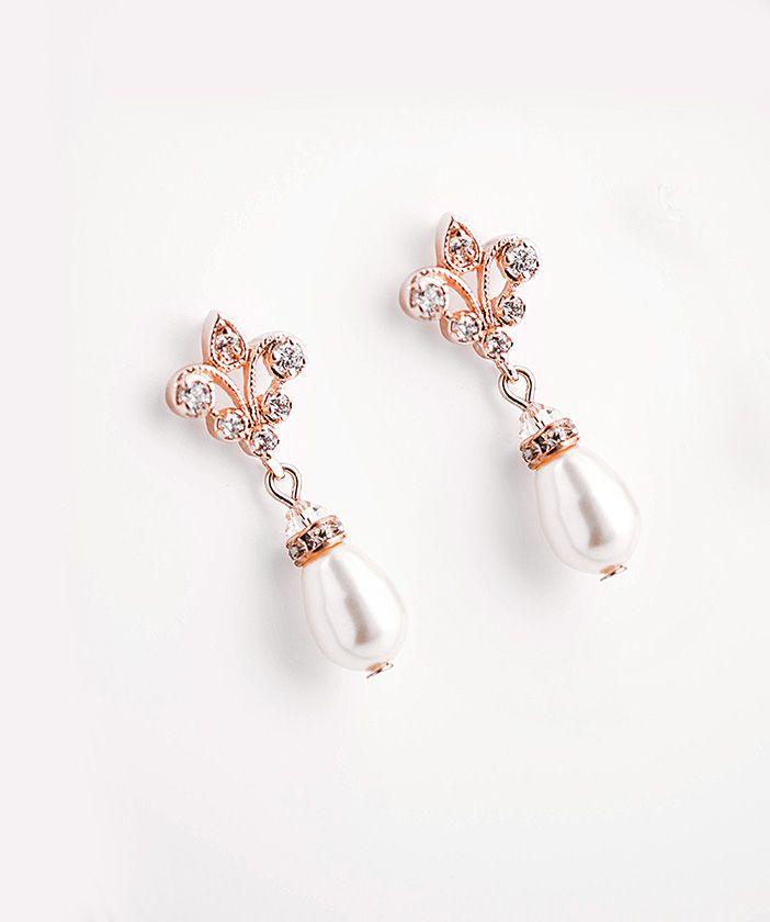 Swarovski Pearl Chandelier Earrings, Crystal Bridal,Bridesmaids jewelry  FRANCES