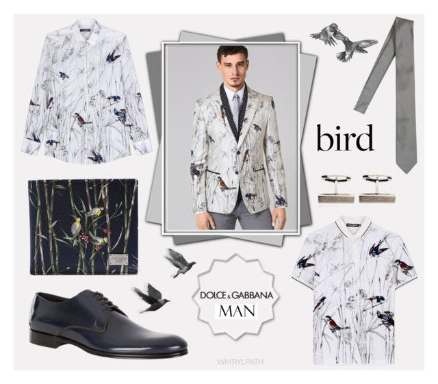 Dolce & Gabbana Man: Birds by whirlypath on Polyvore featuring Dolce&Gabbana, men's fashion and menswear