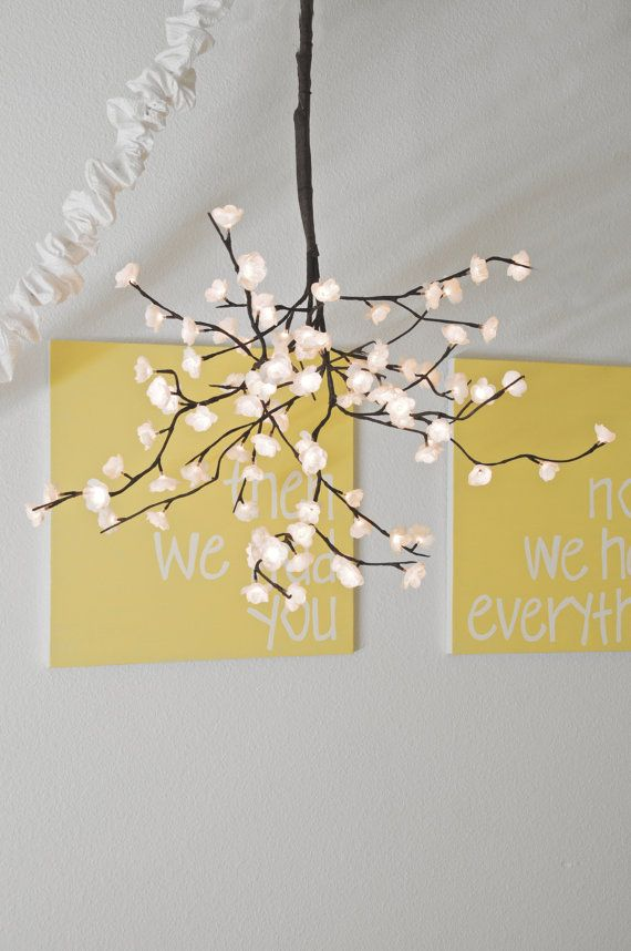 Love this chandelier - perfect for a kids room - or reading spot - even a modern living room.
