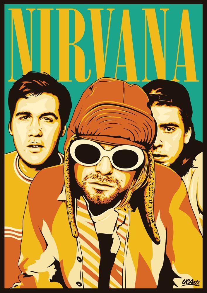 25 ilustraciones de Nirvana/ http://www.paellacreativa.com.ar/2013/07/29/25-ilustraciones-de-nirvana/