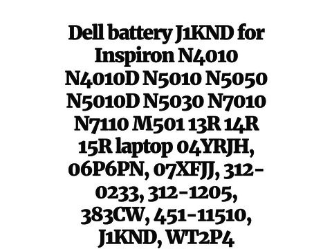 Dell battery J1KND for Inspiron N4010 N4010D N5010 N5050
