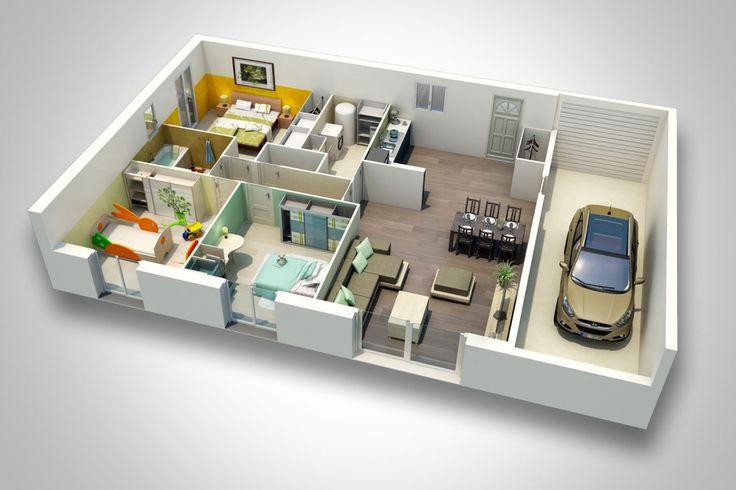 Plan Maison Moderne Gratuit 3d Projets à essayer Pinterest