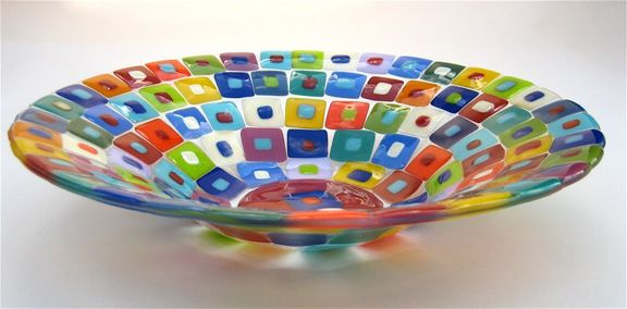 CASE ISLAND GLASS FUSED GLASS BOWL