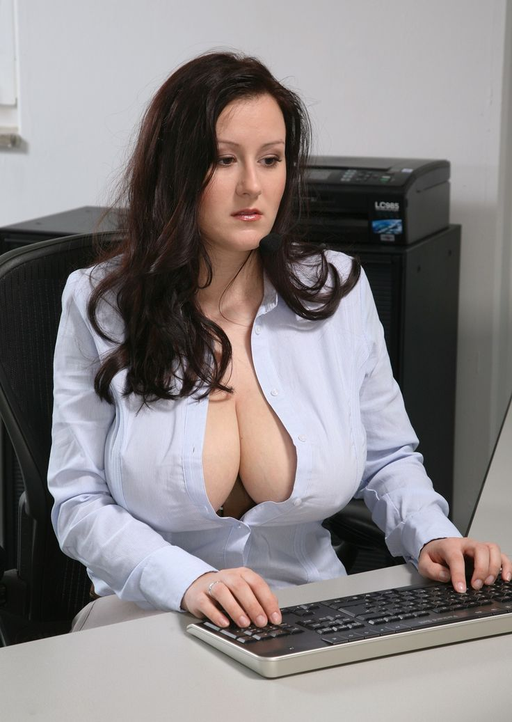 sex office Big boobs girl