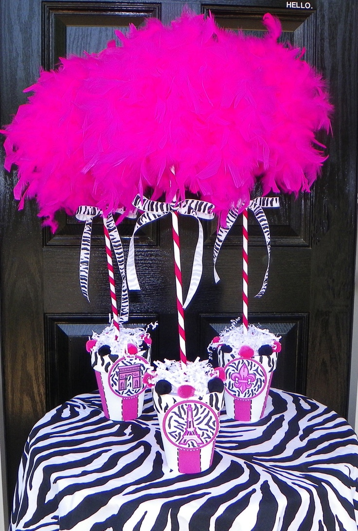 76 best zebra and Paris Birthday party ideas images on Pinterest