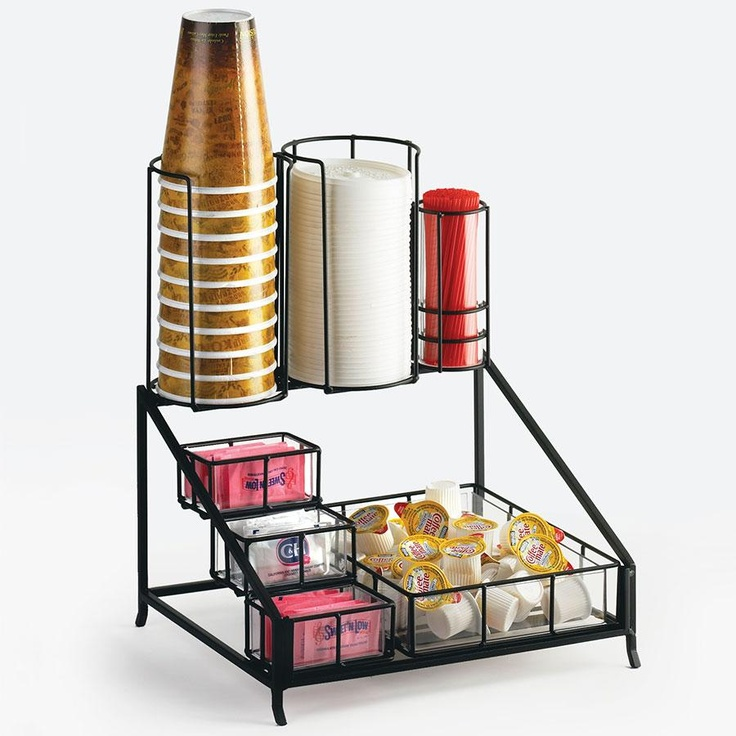 Cal Mil 1453 Iron Coffee Condiment Display - 12