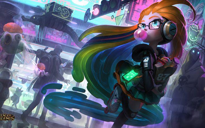 Descargar fondos de pantalla CyberPop Zoe, los personajes, el arte, la Liga De las Leyendas