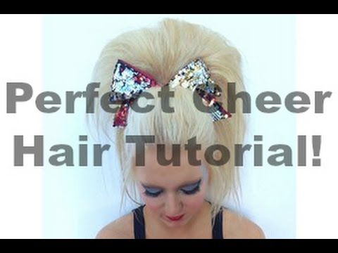 Perfect Cheer Hair Tutorial! - YouTube