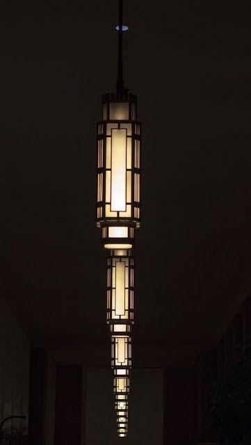 Art deco lamps in 30th Street Station in Philadelphia