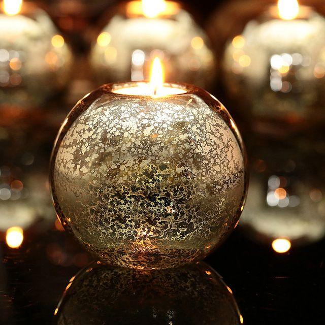 Item de venda! Mercury titulares suporte de vela de vidro castiçal Festival festa de casamento evento decoração central