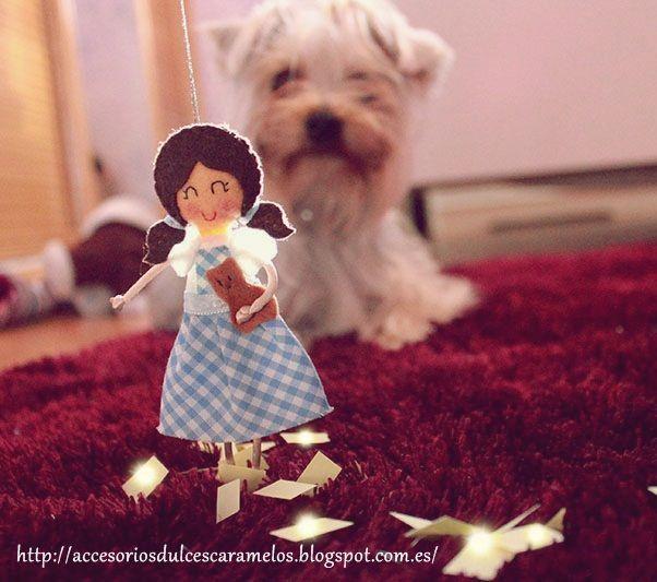 Wizard of Oz, Dorothy / El Mago de Oz http://accesoriosdulcescaramelos.blogspot.com.es/search/label/Mu%C3%B1ecas%20Fieltro%20Cuentos%20Infantiles