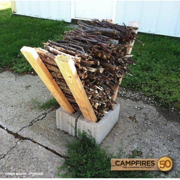 DIY tips! All you need are 2 cinder blocks and 4 2x4's. How easy!