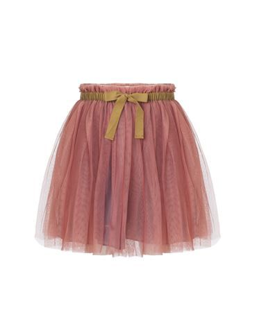 The classic tuile skirt with contrast bow - light rose