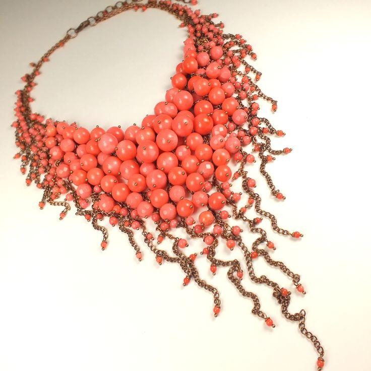 Купить Розово-Коралловое Парфе . Колье из розовых кораллов - коралловый, розовый, коралл, натуральный