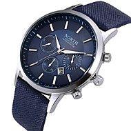 Hombre+Reloj+de+Vestir+Reloj+de+Moda+Reloj+de+Pulsera+Calendario+Cuarzo+Piel+Banda+Negro+Blanco+Azul+–+EUR+€+16.32