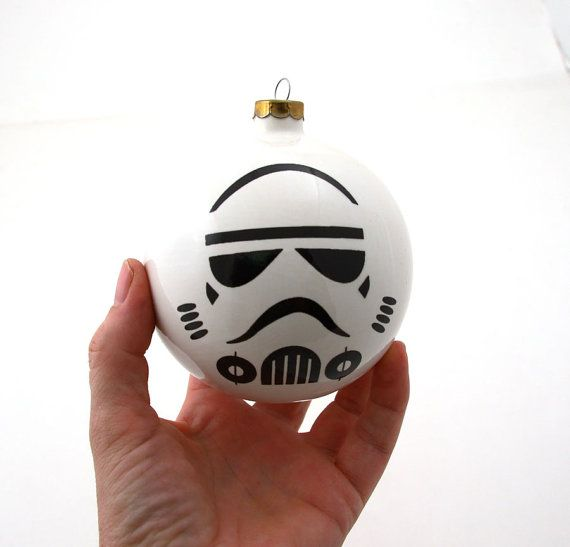 Star Wars (R) Christmas ornament Storm Trooper    One of a kind handmade ceramic Christmas Ornament featuring my fan art homage to the iconic Storm